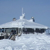 View of cafe on top of the fell at Levi Finland