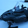 An Arctic Cat snowmobile in Levi Finland